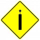 dynamite yellow sign