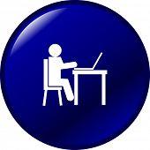 using a laptop computer button