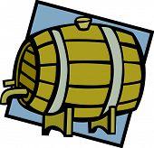 picture of mezcal  - wine barrel - JPG