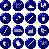 school buttons set