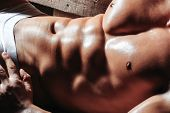 Male Muscular Body Or Torso poster