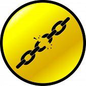 chains breaking button