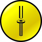 hex wrench and screw button