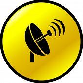 botão de transmissão da antena