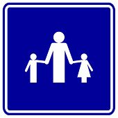 dad and children sign