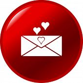 foto of long distance relationship  - love letter button - JPG