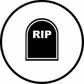 tombstone symbol