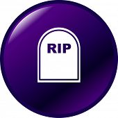 tombstone button