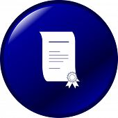 certificate or diploma button