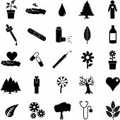 plants and medicine symbol set 2