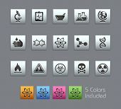 Science // Satinbox Series -------It includes 5 color versions for each icon in different layers ---