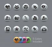 Internet & Blog // Pearly Series -------It includes 5 color versions for each icon in different layers ---------
