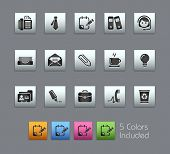 Office & Business // Satinbox Series -------It includes 5 color versions for each icon in different