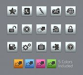 Web Site & Internet Plus // Satinbox Series -------It includes 5 color versions for each icon in dif