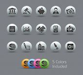 Business & Finance // Pearly Series -------It includes 5 color versions for each icon in different l