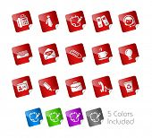 Office & Business // Stickers Series -------It includes 5 color versions for each icon in different layers ---------