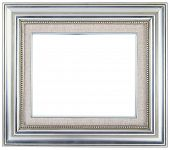 Silver picture frame with a decorative pattern