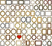 83 picture gold frames with a decorative pattern
