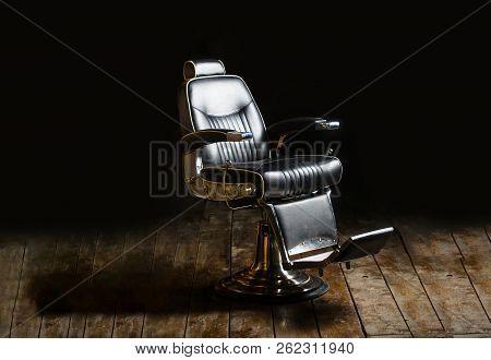 poster of Barbershop Armchair, Modern Hairdresser And Hair Salon, Barber Shop For Men. Beard, Bearded Man. Sty