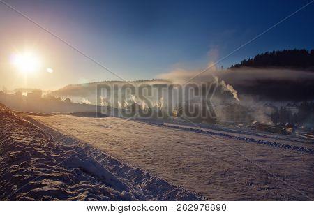 Winter Sunny Morning In Bukovel
