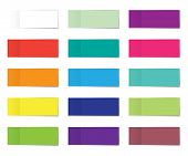 Post Note Sticker Set. Paper Sticky Tape With Shadow. Vector Office Color Post Note Sticks For Adver poster