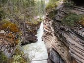 Gorge At Atabasca Falls