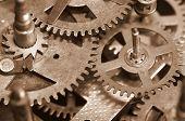 Vintage clock gears