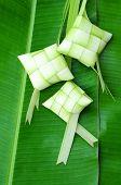 Malaysian cice cake known as ketupat