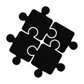 Teamwork Solution Puzzle Icon. Simple Illustration Of Teamwork Solution Puzzle Vector Icon For Web D poster