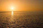 Evening sun set on a resort island in florida