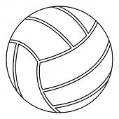 Volleyball Ball Icon. Outline Illustration Of Volleyball Ball Icon For Web poster