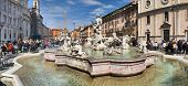 Fountain, Piazza Navona, Roma, Italy