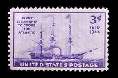 UNITED STATES - CIRCA 1944: Depicting steamship, with inscription