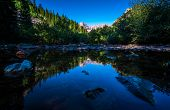 Pond Reflections Of Natural Beauty In The Rocky Mountains. Aspen , Colorado Maroon Bells Wilderness  poster