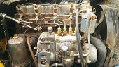 Engine Details. Diesel Engine. Engine Of The Old Model Of Agricultural Tractor poster