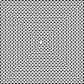 Striped Line Spun Into A Spiral, Black And White Psychedelic Pattern poster