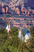stock photo of tipi  - Tipi in Arizona - JPG