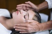 Reiki Healing Treatment With Teenage Girl poster
