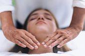 Reiki Throat Chakra Healing Treatment poster