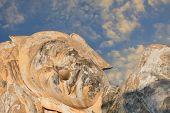 sleeping buddha statue in ayutthaya thailand