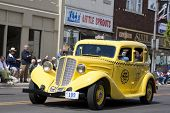 AUBURN, IN - SEPTEMBER 4: Auburn yellow taxi cab at the Annual Classic car parade September 4, 2010