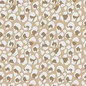 Vector Illustration Leopard Print Seamless Pattern. Nude Hand Drawn Background. poster