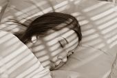 Asleep in the shadows...sepia picture