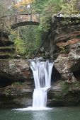 Upper Falls at Old Man's Cave in Hocking Hills Ohio