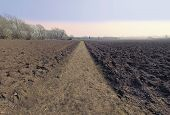 Bidford Upon Avon Warwickshire Ploughed Field poster