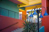 Stairway in La Placita in Tucson, Arizona