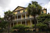 Historic Aiken-Rhett House in Charleston, South Carolina, built in 1820.  Listed on the National Register of Historic Places