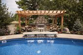 foto of pergola  - Luxury backyard with a pool - JPG