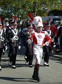 COLUMBUS, OHIO - SEPTEMBER 18: The Ohio State Buckeye band  prepares for their game against the OU Bobcats on September 18, 2010 in Columbus, OH.
