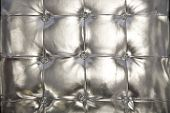 Silver tufted vinyl background for a trendy look